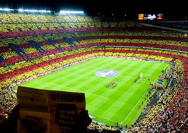 The Camp Nou stadium before el Clasico : FC Barcelona vs Real Madrid