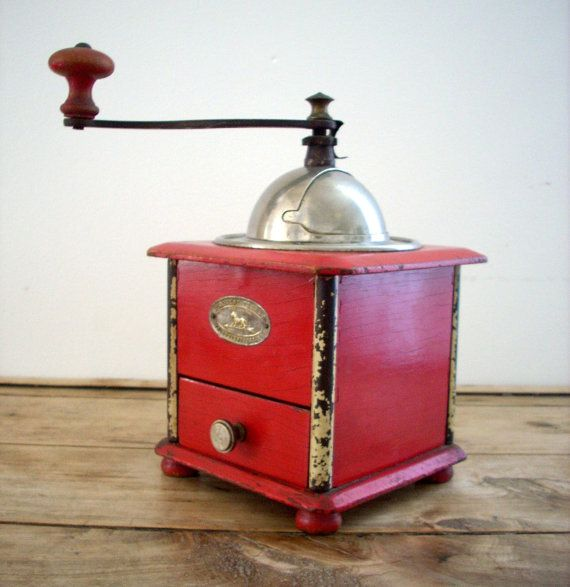 Vintage and Rare French Coffee Grinder, Peugeot Frères, Valentigney, 1930's