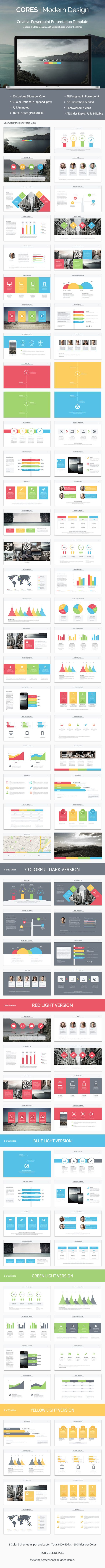 Cores - Powerpoint Presentation Template - Creative PowerPoint Templates