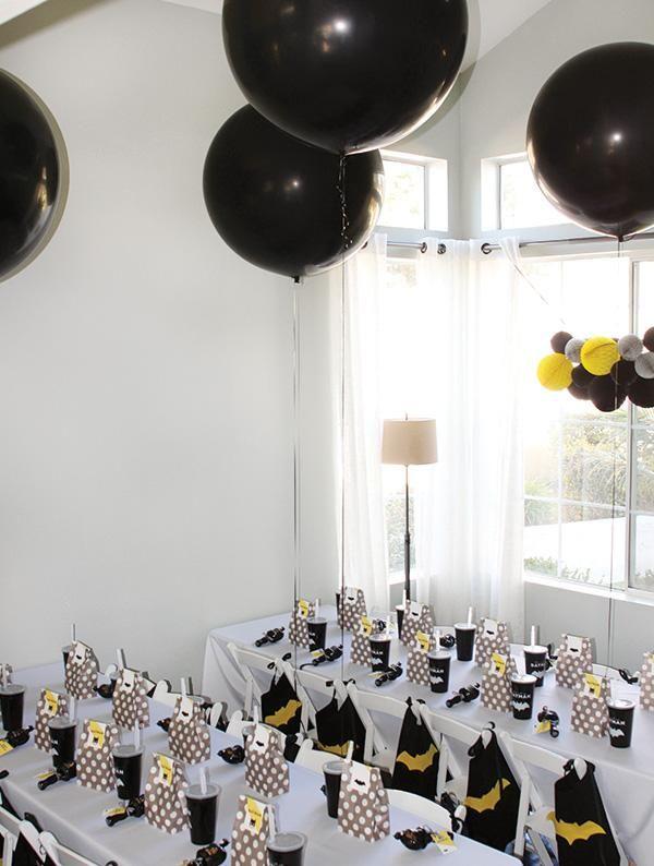 Fiesta Batman cumpleaños. decoración y organización