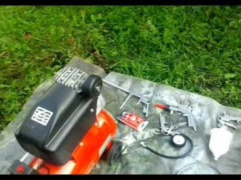Чистка машины компрессором