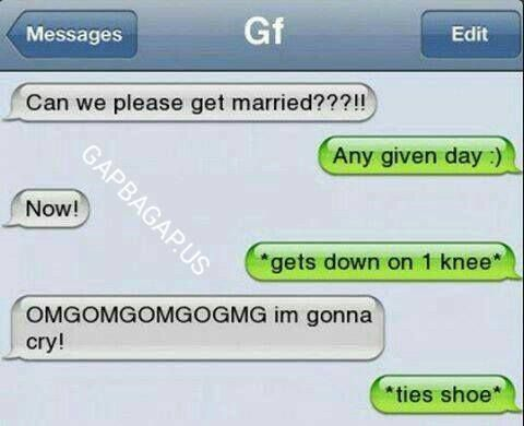 Hilarious Text About Girlfriend vs. Marriage