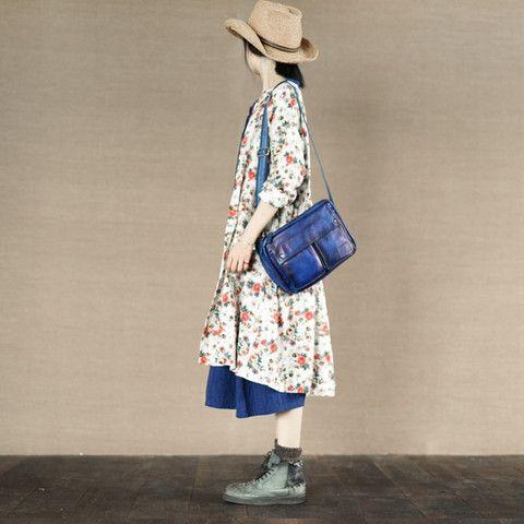 Flower Open Dress Cotton Linen Blouse Causel Shirt Women Clothes