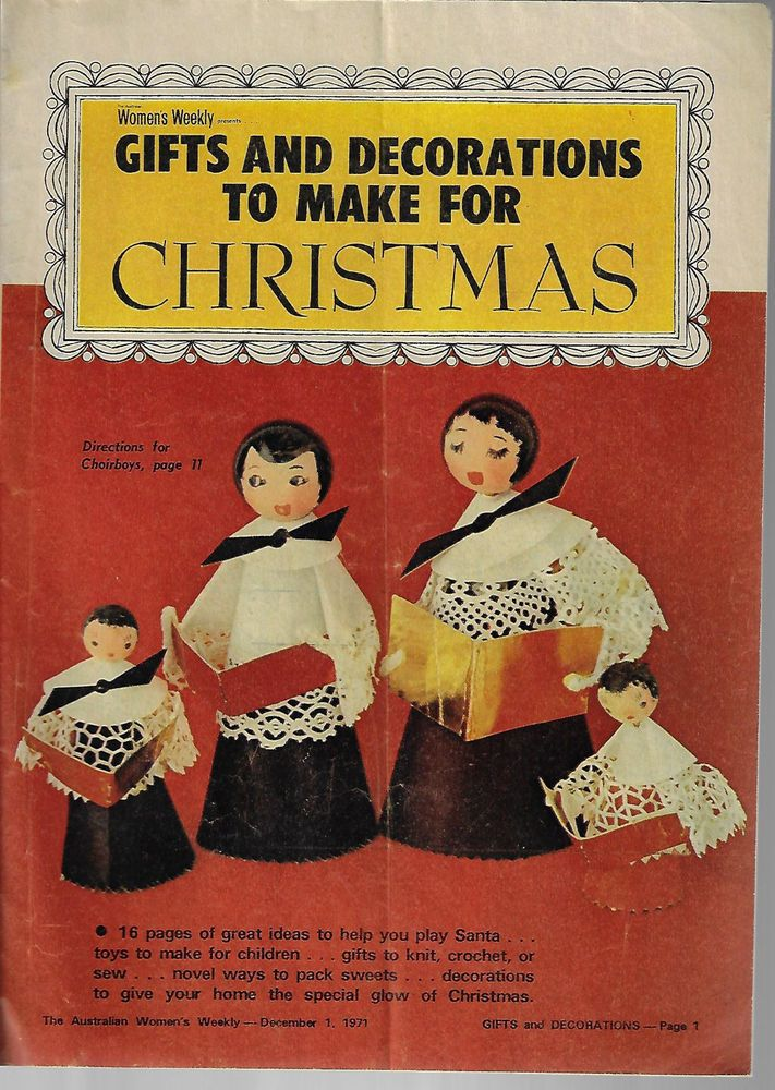 Gifts & Decorations to Make for Christmas AWW magazine pullout 1971 #AustralianWomensWeekly