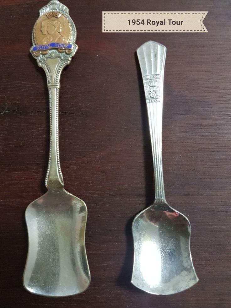 1954 Royal Tour Souvenir Teaspoons