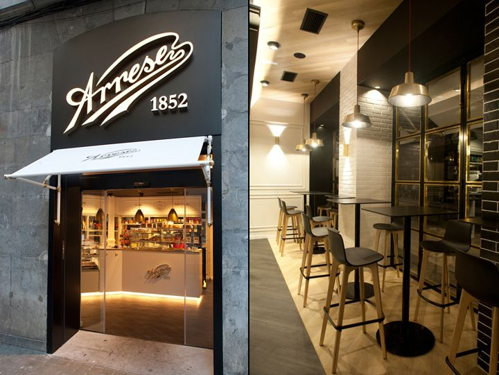 The new local of Pastelería Arrese is placed in middle of Bilbao, near the Gran Vía street.