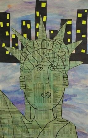 Lady Liberty, 4th grade, facial proportion, before Veteran's day?