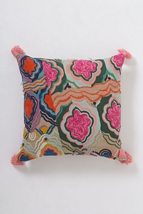 Embroidered Bhangra Cushion | Anthropologie.eu