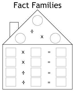 Number Names Worksheets : fact family worksheets multiplication ...