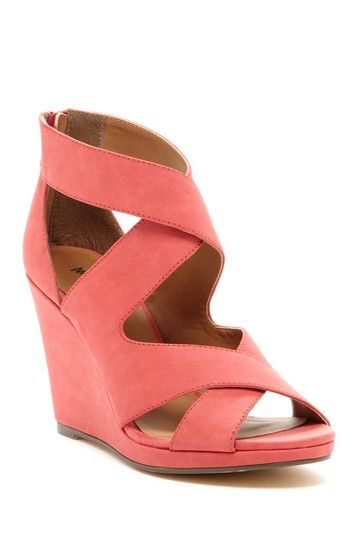 Coral wedge sandals