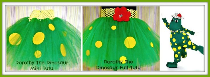 Dorothy the Dinosaur tutus available at Booti Tutu on FB