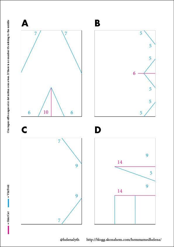 Pyssel: Vika bokstäver av papper – beskrivning på hela alfabetet | Hemma med Helena