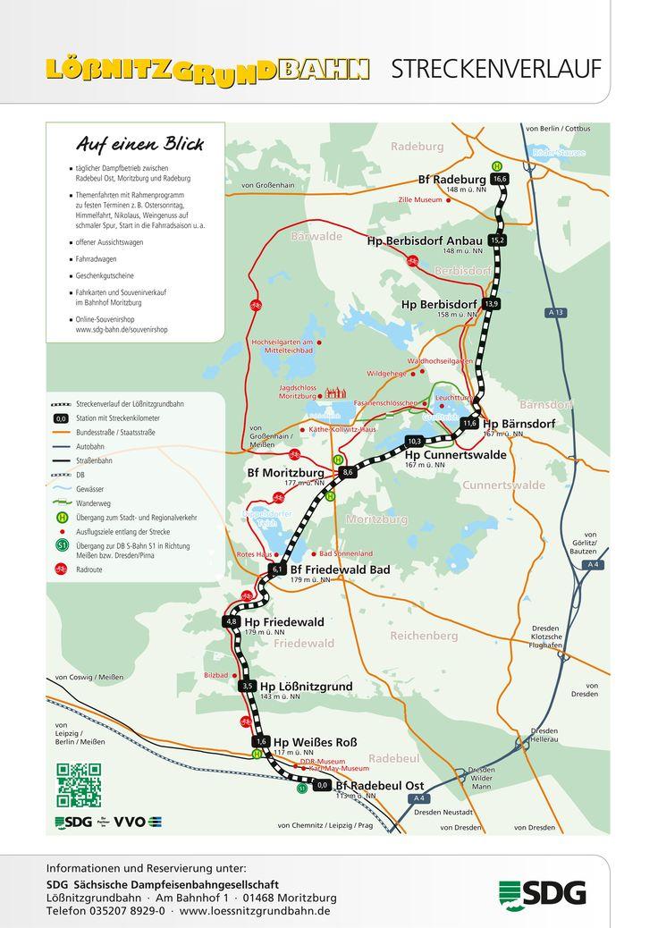 Streckenverlauf Lößnitzgrundbahn