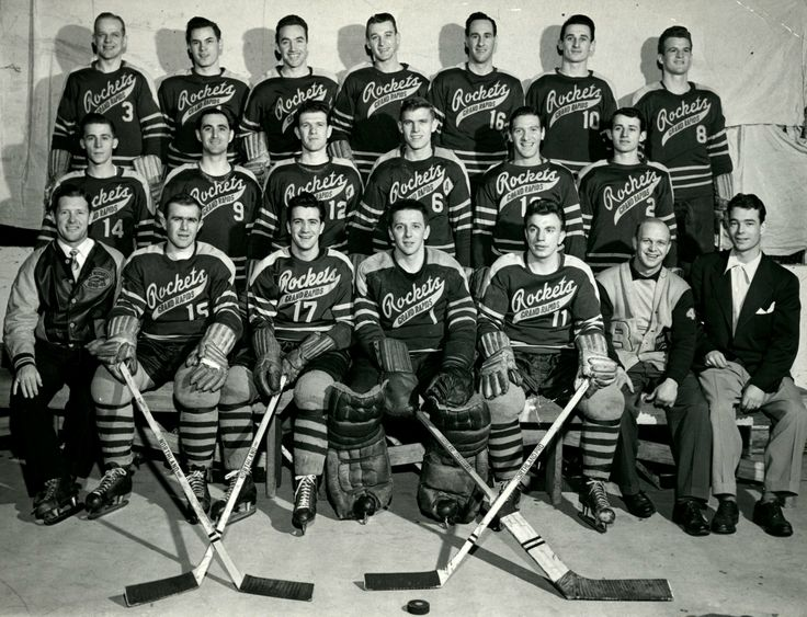 1950s Grand Rapids Rockets hockey players