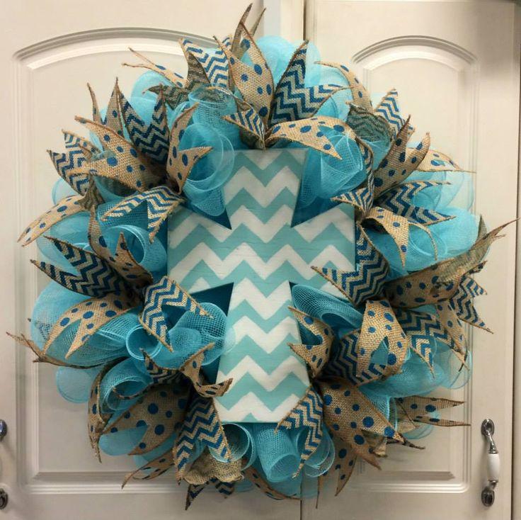 mesh wreaths - Google Search