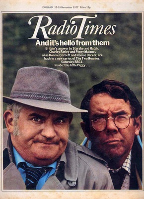 Radio Times with Barker and Corbett in a new adventure for Charlie Farley and Piggy Malone.
