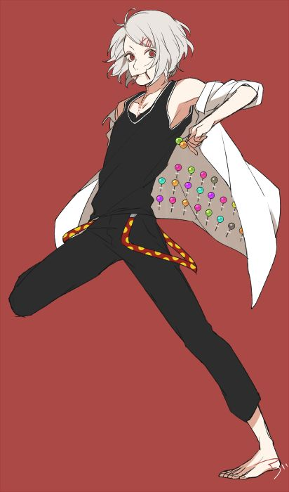Juuzou Suzuya | They're usually lollipops, but sometimes they're razor blades. Good luck with that!