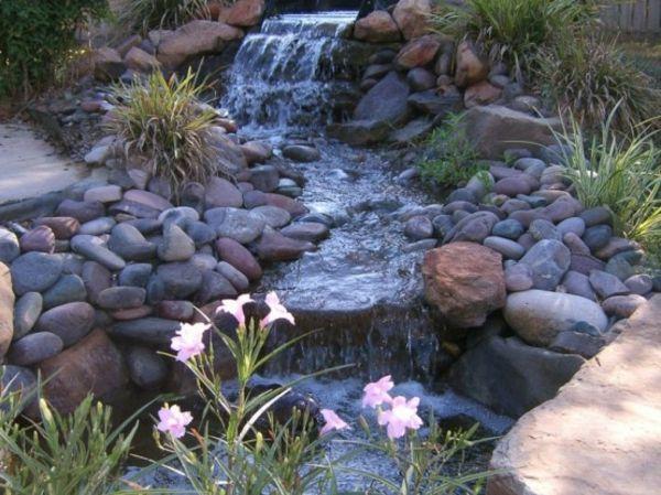 Cascade et  fontaine de jardin , 69 déco pour les moments de relaxe - design-de-jardin-avec-cascade-fontaine