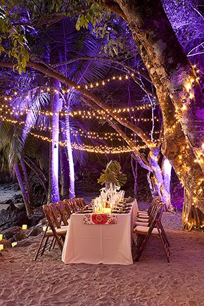 Costa Rica wedding reception// Beach Wedding Ideas in Costa Rica// Design by Tropical Occassions www.tropicaloccasions.com/ Photography by Zach Stovall