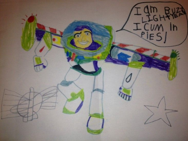 Kid's Buzz Lightyear Drawing Accidentally Implies Something Hysterically Sexual — PHOTO | Bustle