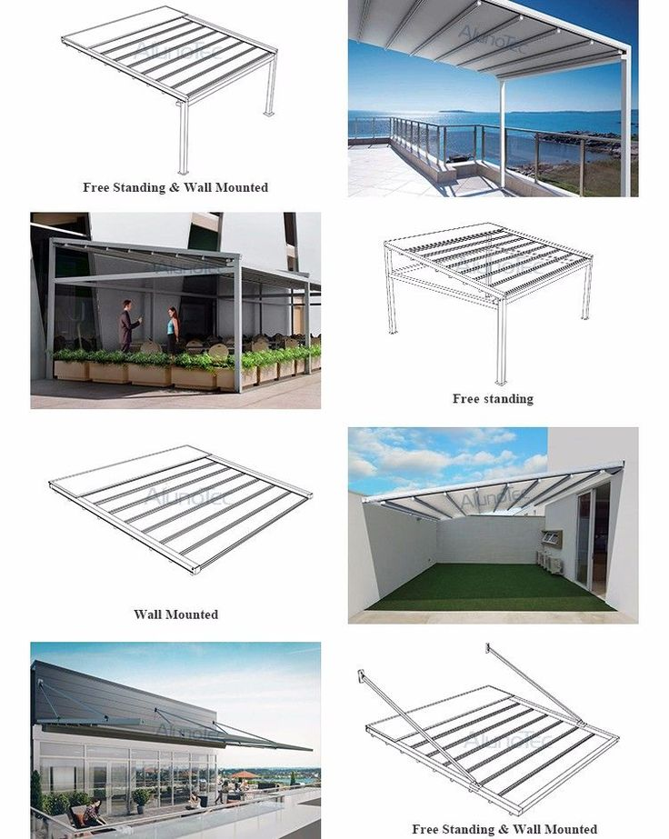 Retractable Canvas Pergola With Retracted Fabric Roof ... on Canvas Sun Shade Pergola id=24932