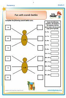 Worksheets - Grade 3 - Numeracy : Grade 3 -Numeracy: Ancient Egypt 2