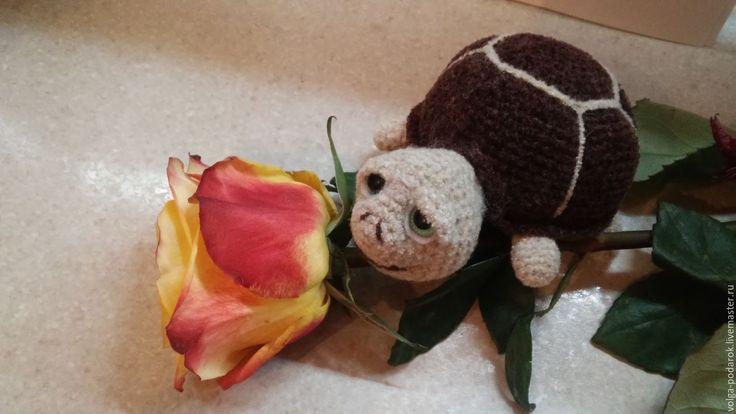 Купить Черепаха вязаная - коричневый, черепаха, Вязание крючком, вязаная черепаха, игрушка ручной работы