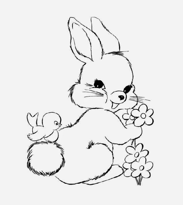 Cute Coloring Pages Of Baby Bunnies