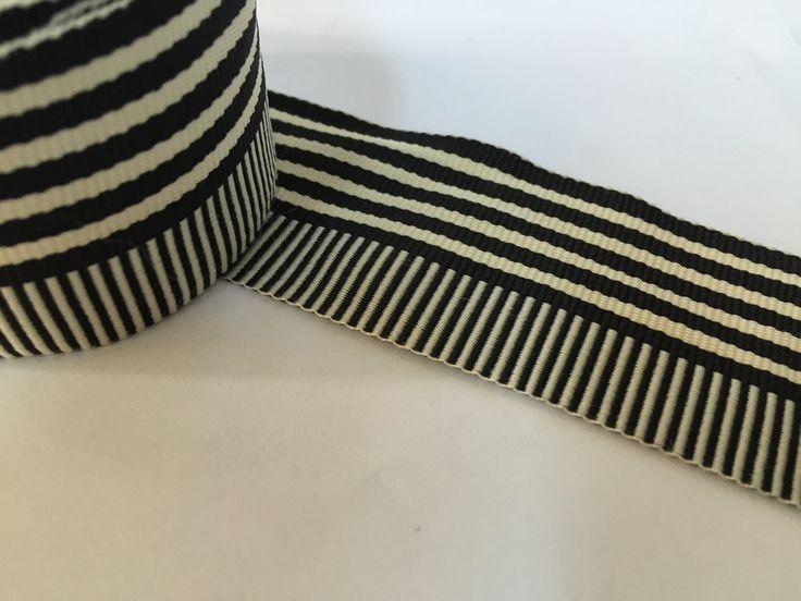 "9/5 "" grosgrain ribbon, striped grosgrain ribbon, polyester ribbon, belt ribbon by NoaElastics on Etsy"