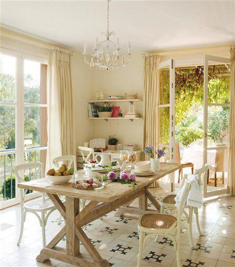 Comer en la cocina 18 office con mucho encanto elmueble - Cocinas pequenas con encanto ...