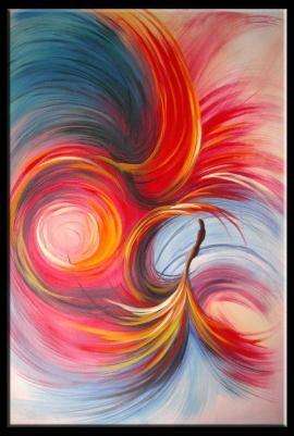 Typhoon abstract oil painting $195