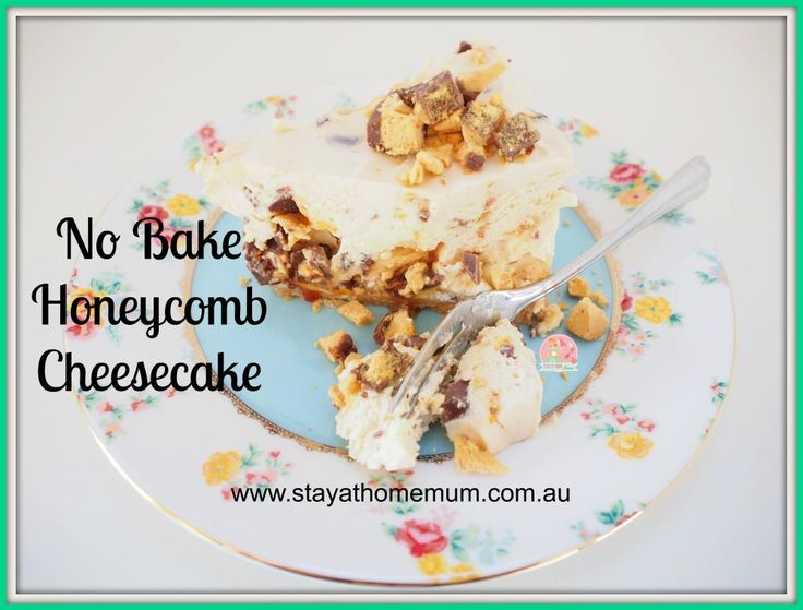 No Bake Honeycomb Cheesecake | Stay at Home Mum