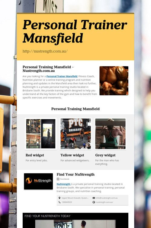 Personal Trainer Mansfield