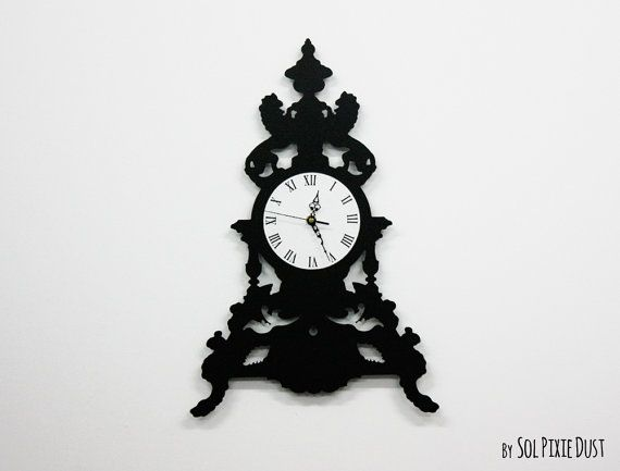 Modern Victorian Table Clock  Silhouette Wall Clock
