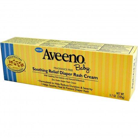 Aveeno, Baby, Soothing Relief, Diaper Rash Cream, Fragrance Free, 105 g