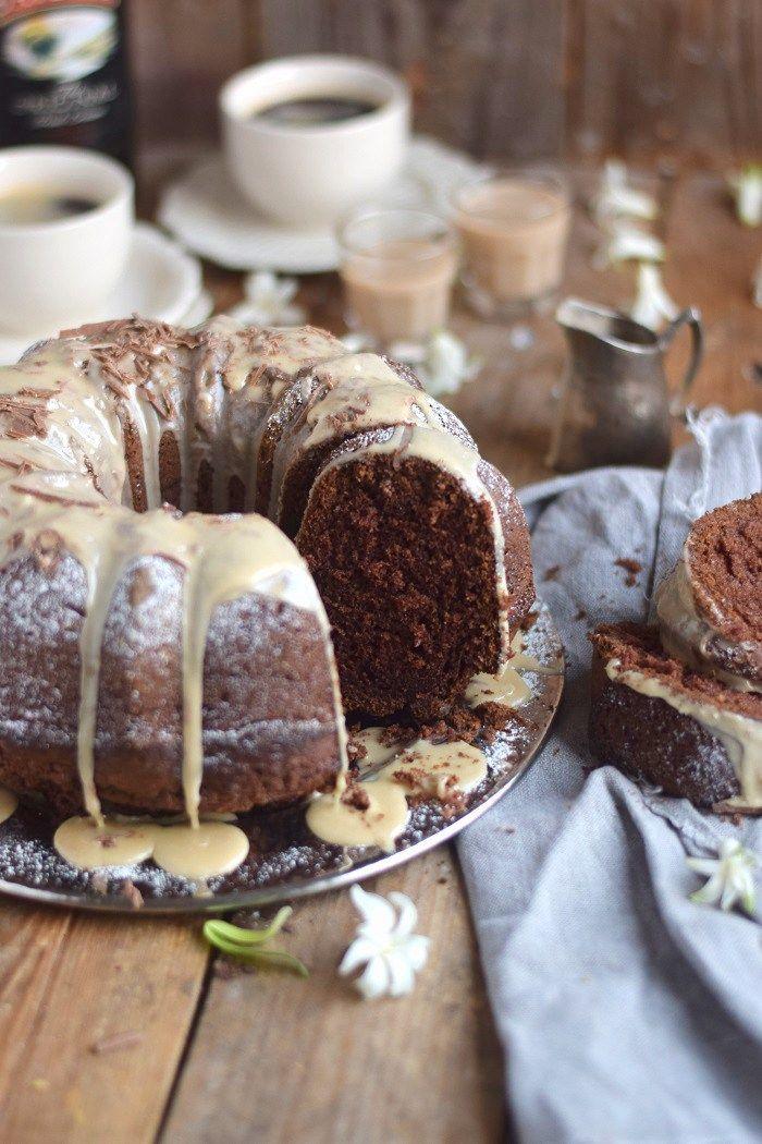 Baileys Schoko oder Eierlikör Schoko Gugelhupf Kuchen - Baileys Chocolate Bundt Cake (18)