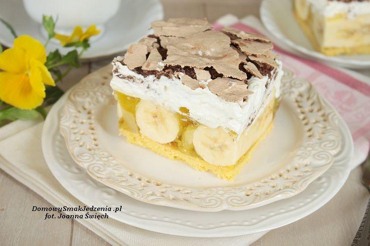 pyszne ciasto bananowa chmurka
