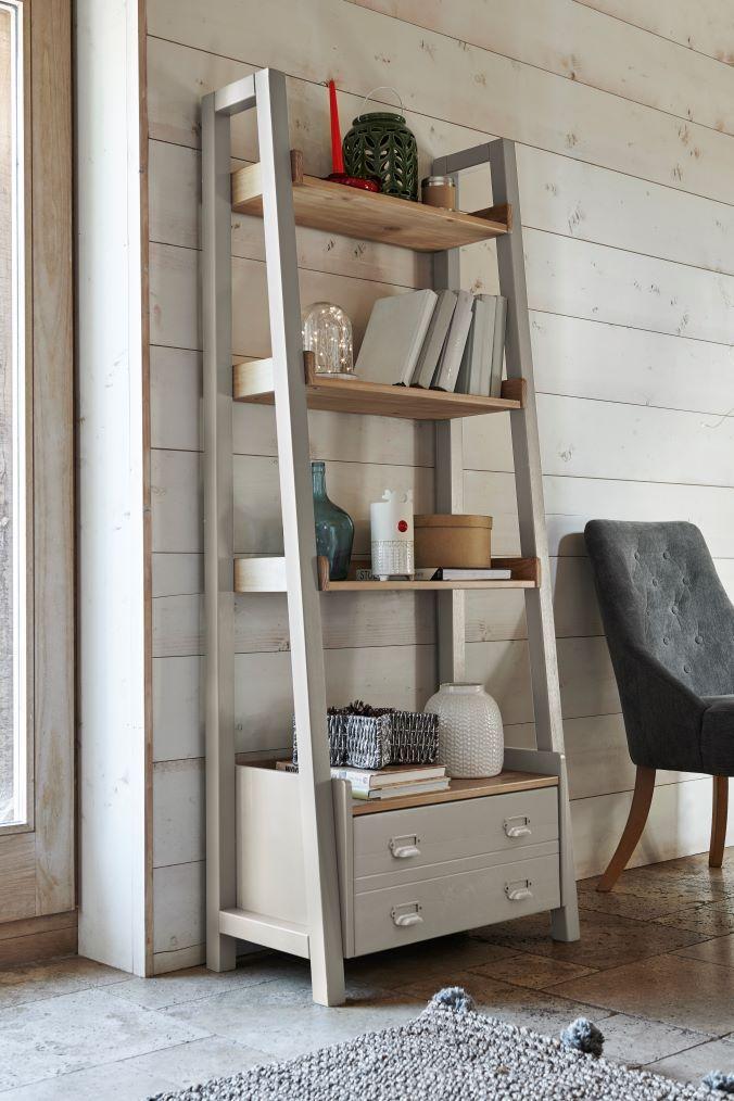 Next Huxley Painted Ladder Shelves Cream Shelves Bookcase Shelves Ladder Shelf