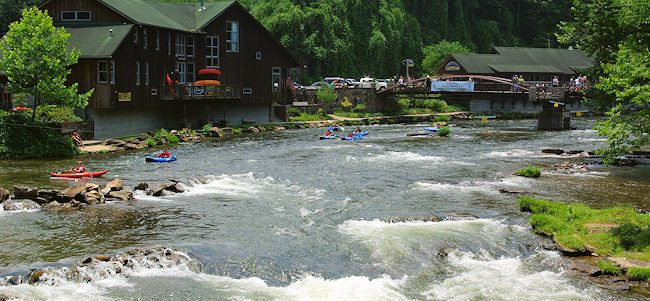 Nantahala River in North Carolina. Some of my favorite memories are from here. It puts a spell on you