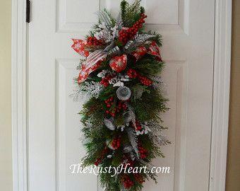 Navidad Navidad puerta botín guirnalda de por WonderlandTrends