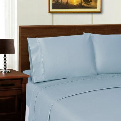 Simple Luxury Superior 600 Thread Count Sheet Set Color: Blue, Size: California King