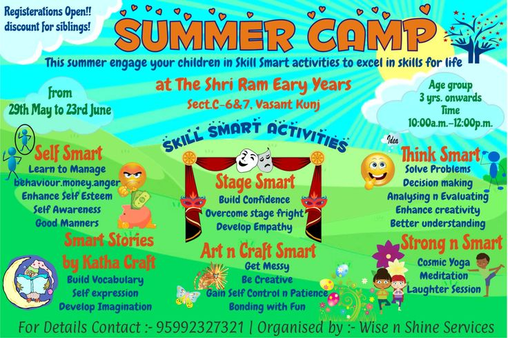 Best Summer Camp Flyers Images On   Flyers Leaflets And