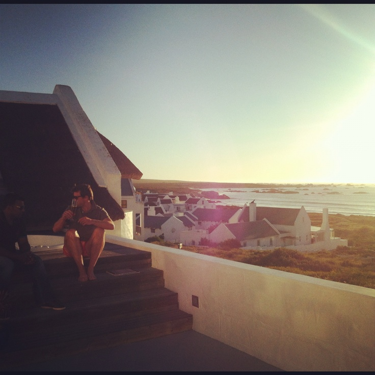 Preparing for sundowners in Paternoster with the boys. Nice!