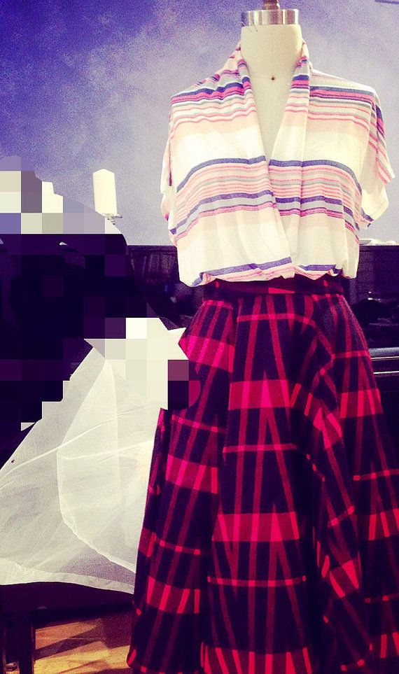 Beautiful full vintage style long skirt by madling on Etsy