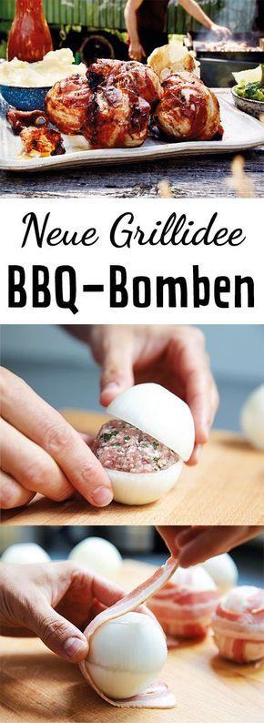 Fleischbällchen ummantelt mit einer feinen Schickt Speck und Zwiebeln - eine köstliche Idee, perfekt geeignet für unseren Grillspieß von Brun