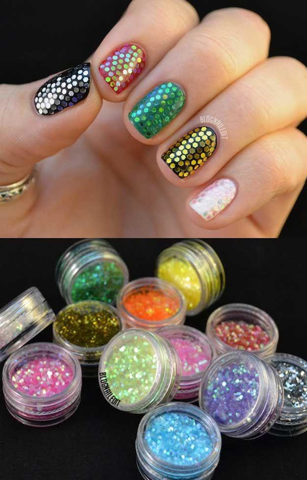 33 Awesome Glitter Nail Art Designs 33 Awesome Glitter Nail Art