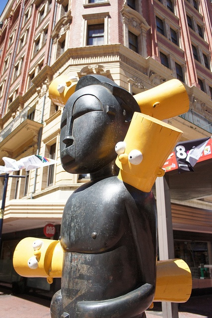 Bart Simpson Statue in Capetown
