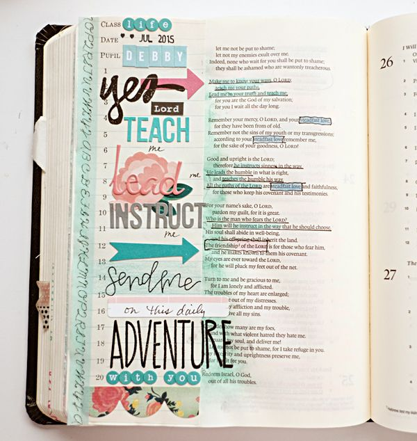 Debby Schuh | His Love Covers The Mess for Illustrated Faith in her Journaling Bible
