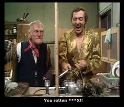 """100. """"Divided We Stand,"""" Steptoe and Son (1972). Anyone who's shared a bedroom with a sibling has eventually hit upon the idea of dividing the room down the middle with some """"uncrossable"""" tape."""