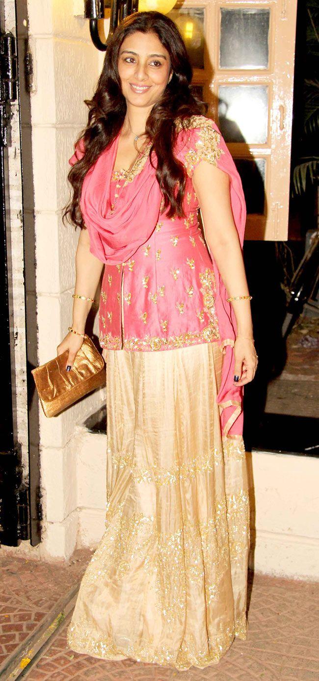 Tabu at Ekta Kapoor's Diwali bash. #Bollywood #Fashion #Style #Beauty